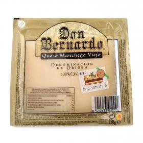 Queso puro de oveja viejo D.O. Manchego mini Don Bernardo Oro cuña 1/8, 250 g