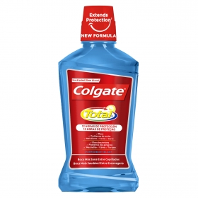 Enjuague bucal Total protección contra la placa bacteriana Colgate 500 ml.