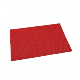 Mantel Individual Cuadrado de Poliester 45x30cm Rojo