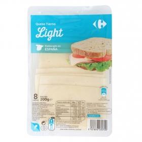 Queso en loncha tierno light Carrefour 200 g.