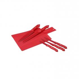 Set Cuchillos con Revestimiento Ceramico Rojo