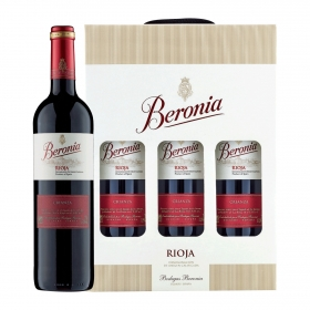 LOTE 88: 3 botellas D.O. Ca. Rioja Beronia tinto crianza 75 cl. pack de 3 botellas de 75 cl.