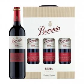 LOTE 88: 3 botellas D.O. Ca. Rioja Beronia tinto crianza 75 cl.