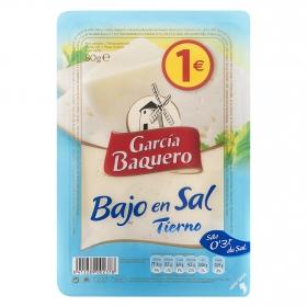 Queso en lonchas tierno bajo en sal García Baquero 80 g.