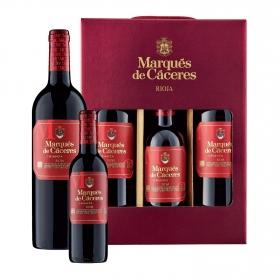 LOTE 82: 2 botellas D.O. Ca. Rioja Marqués de Cáceres tinto crianza 75 cl. + 1 botella D.O. Ca. Rioja Marqués de Cáceres tinto crianza 37,5 cl.