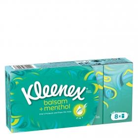 Pañuelos balsam y menthol Kleenex 8 ud.