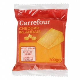 Queso cheddar Irlandés Carrefour 300 g