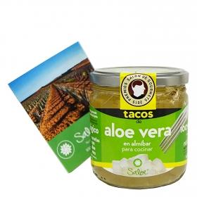 Tacos de aloe vera en almíbar para cocinar ecológicos Saloe 205 g.