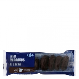 Mini redondos de chocolate Carrefour 155 g.