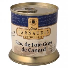 Bloc de foie gras de pato Larnaudie 200 g.