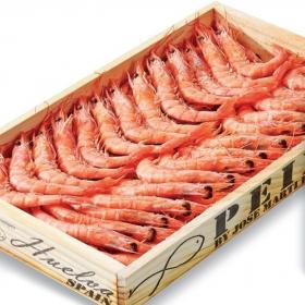 Gamba cocida caja de madera 600 gr