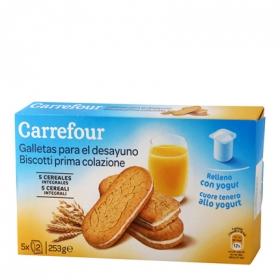 Galletas para el desayuno yogurt