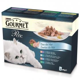 Purina Gourmet Perle Comida Húmeda para Gato Finas Láminas DUO del Mar en Salsa 85g