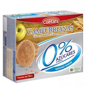 Galletas 0 % azúcares añadidos Campurrianas Cuétara 400 g.