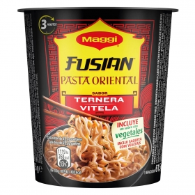 Pasta oriental de ternera Fusian