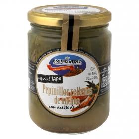 Pepinillos rellenos de anchoa Emperatriz 290 g.