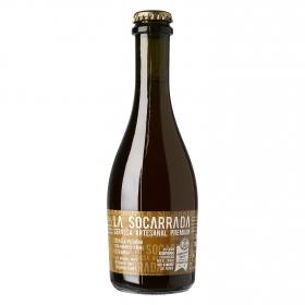 Cerveza artesana La Socarrada premium botella 33 cl.