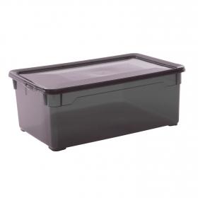 Caja plástico con tapa Basic Box 5 l Fume