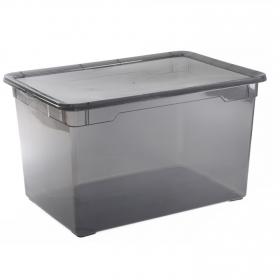Caja plástico con tapa Basic Box 46 l Fume
