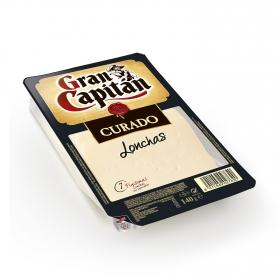 Queso curado en lonchas Gran Capitán 140 g.