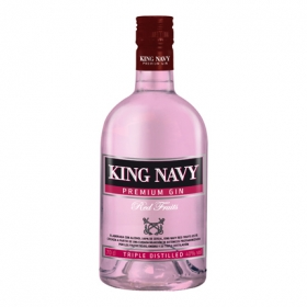 Ginebra King Navy premium frutos rojos 70 cl.