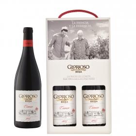 LOTE 73: 2 botellas D.O. Ca. Rioja Gloriosos tinto crianza 75 cl.
