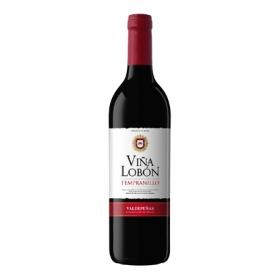 Vino D.O. Valdepeñas tinto tempranillo Viña Lobón 75 cl.