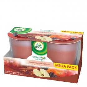 Vela perfumada Exotic Scents manzana roja de California Air Wick 2 ud.
