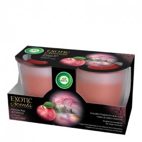 Duplo vela Exotic Scents manzana roja de California