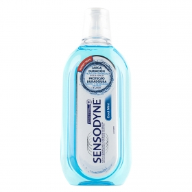 Colutorio para dientes sensibles cool mint larga duración sin alcohol Sensodyne 500 ml.
