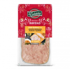 Pollo relleno con jamón y queso La Carloteña 150 g