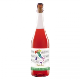 Vino Lambrusco rosado Amabile Bautista Marti 75 cl.
