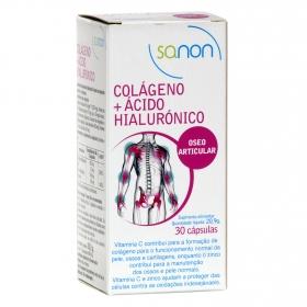 Colágeno + Ácido Hialurónico Sanon 30 cápsulas.