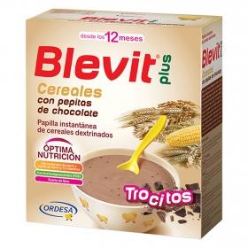 Papilla de cereales con pepitas de chocolate