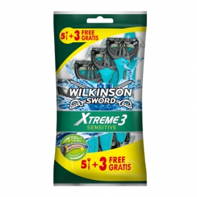 Maquinilla afeitar desechable Xtreme 3 Sensitive Wilkinson 8 ud.