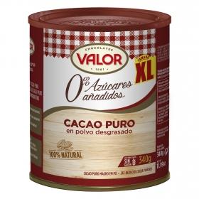 Cacao soluble desgrasado Valor sin gluten 340 g.