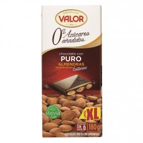 Chocolate puro con almendras 0% azúcares añadidos xl