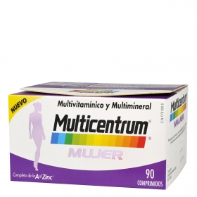Multivitamínico y multimineral Mujer Multicentrum 90 comprimidos.
