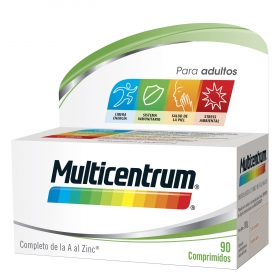 Multivitamínico y multimineral adulto Multicentrum 90 comprimidos.
