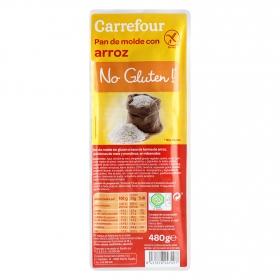 Pan de arroz Carrefour sin gluten  480 g.