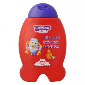Gel de baño perfume exótico extra suave Carrefour Kids 300 ml.