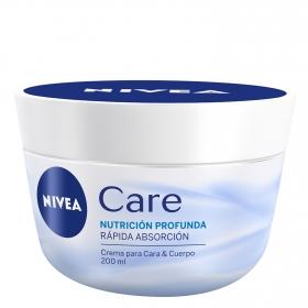 Crema para Cara&Cuerpo Nutrición Profunda Nivea Care 200 ml.
