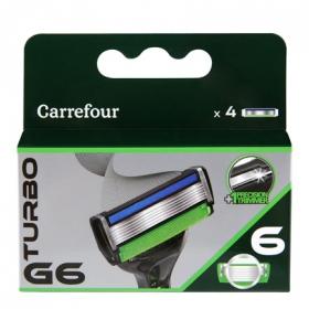 Recambio maquinilla 6 hojas Turbo G6
