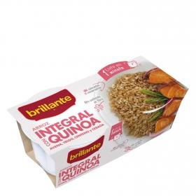 Arroz integral con quinoa para microondas Brillante pack de 2 ud. de 125 g.