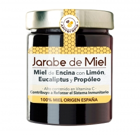 Jarabe de miel casero: miel de bosque, propóleo, eucaliptus, limón, Primo Mendoza 250 g