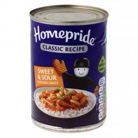 Salsa agridulce para cocinar Homepride lata 400 g.