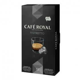 Café ristretto en cápsulas Royal compatible con Nespresso 10 unidades de 5,3 g.