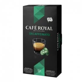 Café descafeinado en cápsulas Royal compatible con Nespresso 10 unidades de 5 g.