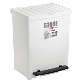 Cubo de basura  Stone 25 Litros Blanco
