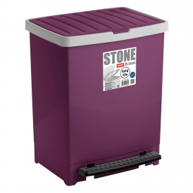 Cubo de basura  Stone 25 Litros Morado